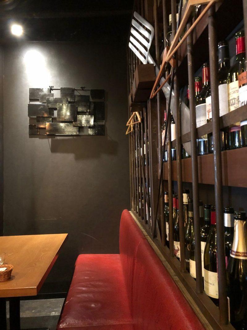 壁いっぱいのワイン
