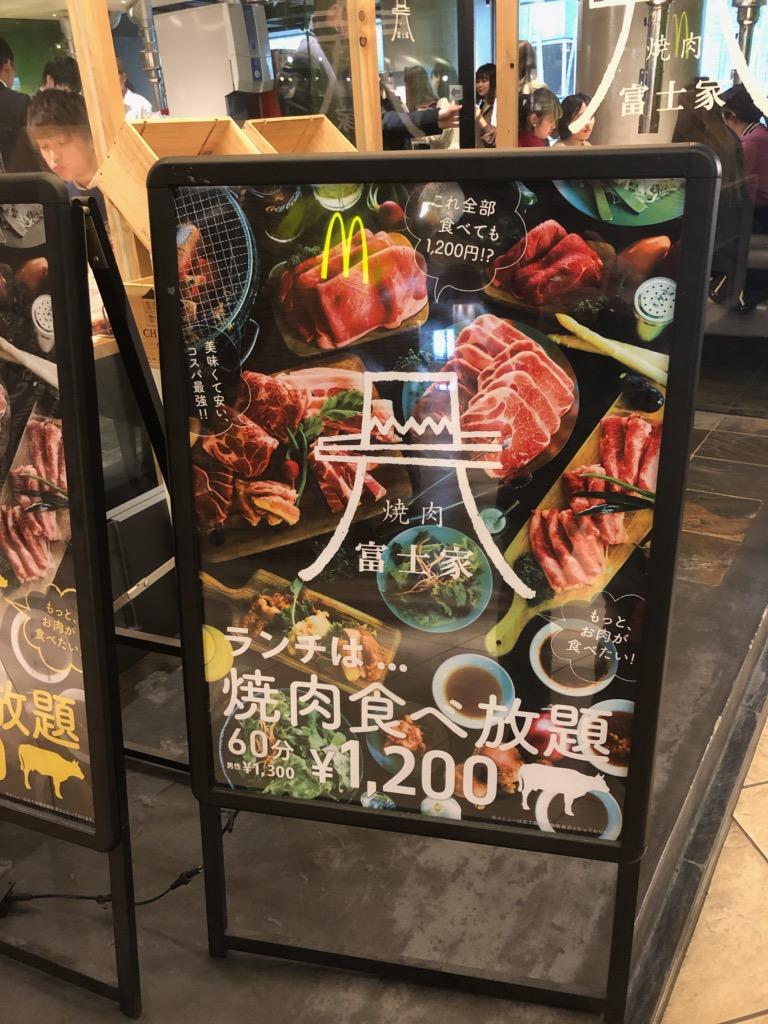 焼肉富士屋看板