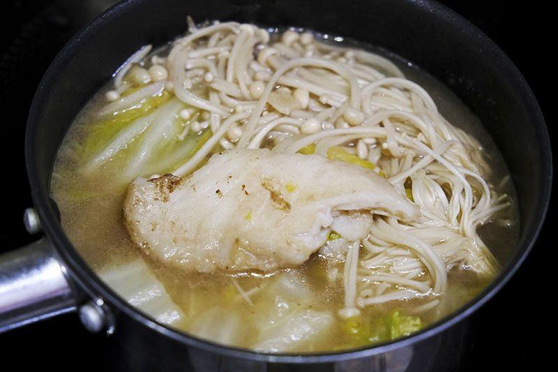 白身魚の中華風鍋