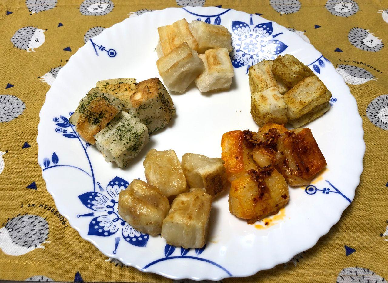 揚げ餅5種