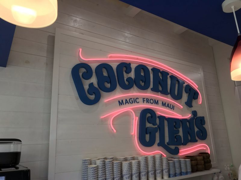 COCONUT GLEN'S看板
