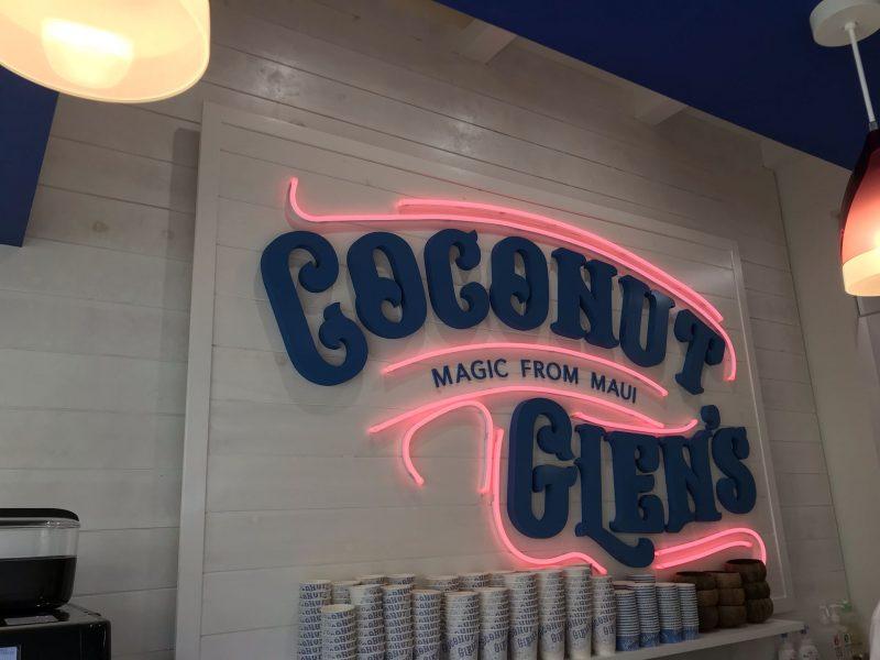 COCONUT GLEN'S看板